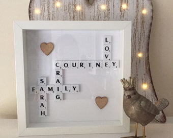 Scrabble picture Family Gift