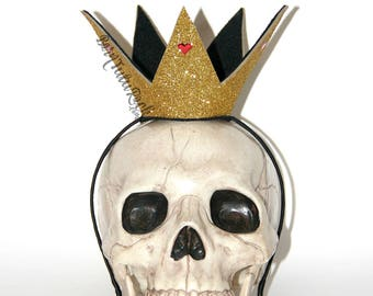 Queen of Hearts Crown // Alice in Wonderland Crown // QOH Crown // Gold Crown // by Born TuTu Rock