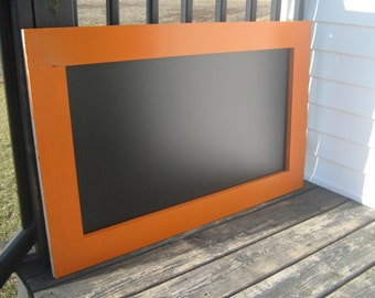 Extra large chalkboard real orange chalk board office home organization 40 x 25 inches