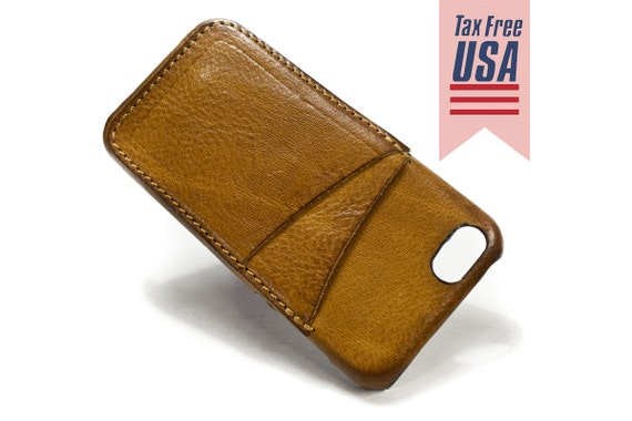 iPhone SE or 5s or 5 leather credit card case 2 vertical slots choose BODY and ACCENT colour