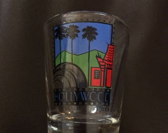 Vintage Hollywood, CA shot glass