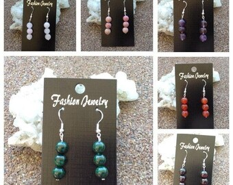 Crystal Drop Earrings (choice of crystal)
