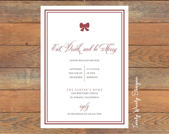 Simple Holiday Brunch Invitation Printable