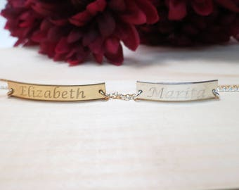 Personalized Bracelet Gold Bracelet Best Friend Gift Personalized Gift Engraved Bracelet Bridesmaid Gift Friendship Gift Gold Silver