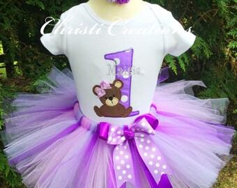 1st Birthday Teddy Bear Outfit - Baby Girl Cake Smash - Teddy Bear Birthday - 1st Birthday Outfit
