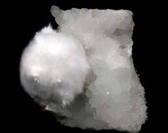 natural OKENITE Prehnite Quartz Minerals India #JA574