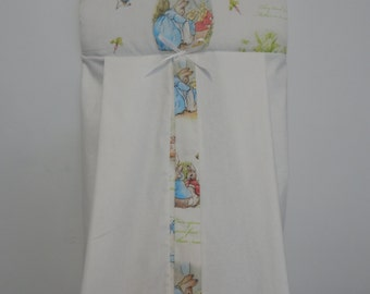 Gorgeous Beatrix Potter Classic Peter Rabbit Nappy Diaper Stacker 100% Cotton