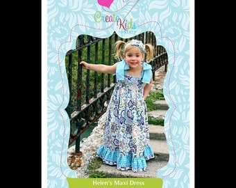 Spring Cleaning Helen's Maxi Dress Pattern by Create Kids Couture
