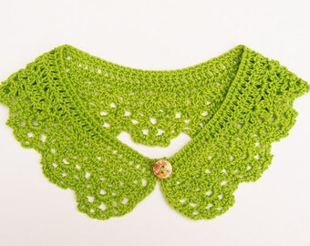 Apple Green Crochet Collar Women Accessory