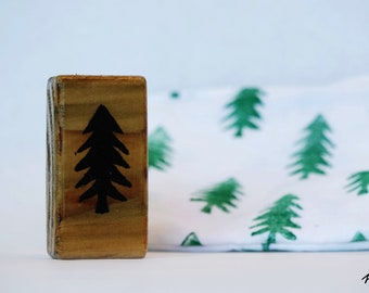Hand-Carved Evergreen Tree Stamp