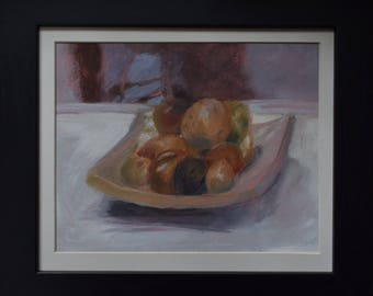 Fruit Bowl - still life. Original oil painting.