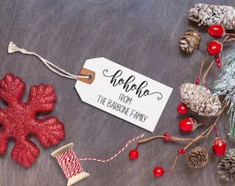 Custom Christmas Stamp, Christmas Wood Mount Stamp, Custom Christmas Stamp, Wood Mount Stamps, Custom Rubber Stamp --WM-BL-Hohoho