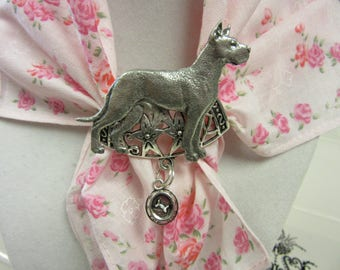 Lovely Silver and Lead Free Pewter Great Dane scarf Slide-Very limited Editon