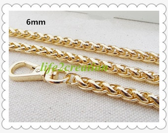 6mm Iron Chain Gold Plated Handbag Chain Finished Chain Twisted Chain 200-072