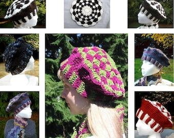 PDF Crochet Pattern  Shell Stitch Crocheted Tam Red Heart Boutique Treasure