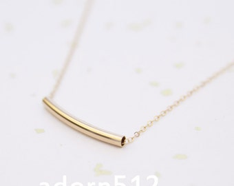 Gold Curved Bar Necklace, Curved Bar Necklace, Bar Necklace Gold, Gold Bar Necklace, Curved Bar, Curved Gold Bar Necklace, Curved Bar