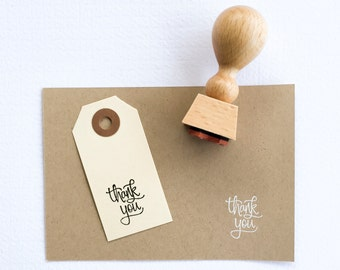 Mini Thank You Stamp - mini hand lettered thank you stamp - calligraphy stamp - calligraphy thanks - thanks stamp - thank you note K0001