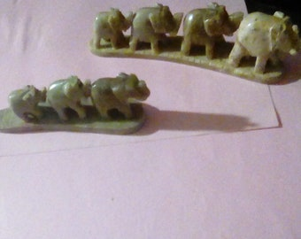 Soapstone elephant decoration