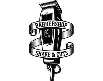 Clippers ~ Barbershop Vinyl Decal ~~Choice of color ~