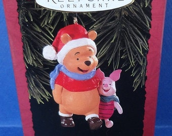 1996 Winnie the Pooh and Piglet Hallmark Retired Ornament