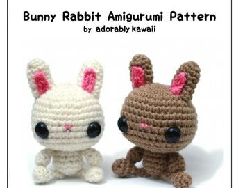 Bunny Rabbit Amigurumi Pattern, Crochet Rabbit Pattern, Bunny Nursery Toy, PDF Rabbit Plush Pattern, Cute Bunny Amigurumi, Crochet Amigurumi