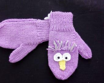 Children's Character/Animal Mittens - Owls