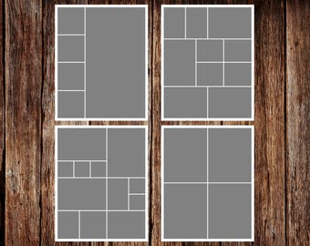 16 x 20 - Template Pack No.1 - INSTANT DOWNLOAD - Storyboard Template, Photo Collage Template
