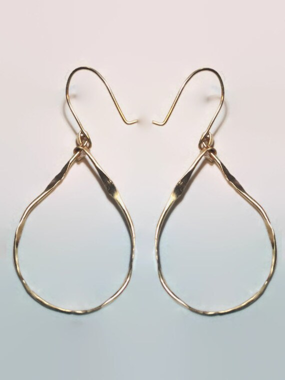 Organic Teardrop Hoops - Small