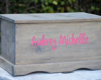 Kids Toy Box - Wooden Box - Keepsake Box - Memory Box - Kids Memory Box - Wooden Toy Chest - Toy Box - Personalized Toy Box - In Memory Box