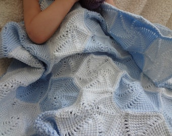 READY TO SHIP-Twirling Pinwheels Baby Afghan