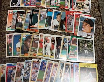 50 San Francisco Giants Baseball Cards - 1980's