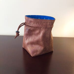 Adventurer Peacock Stand-up Dice Bag, Square Bottom