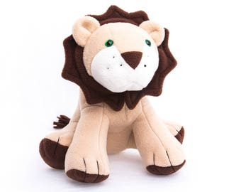 "Lion Plush, Made To Order, Cuddly Lion, Soft Toy Lion, Custom Plush, Lion Soft Toy, 12"" Plush"
