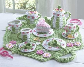 Tea Set Crochet Pattern PDF