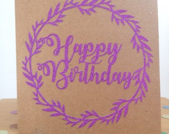 Papercut Birthday Card, Happy Birthday Card, Birthday Hreetings Card