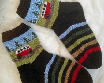 PDF Knitting Pattern for Campervan / Kombi Socks