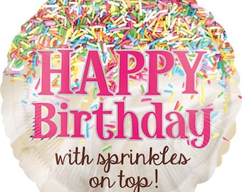 My Sprinkle Party Balloon / Donut Party  / Donuts Theme / sprinkles   / Ice cream / sprinkle/ Party balloons