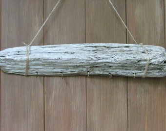 Driftwood necklace holder/ white washed/ jewelry display
