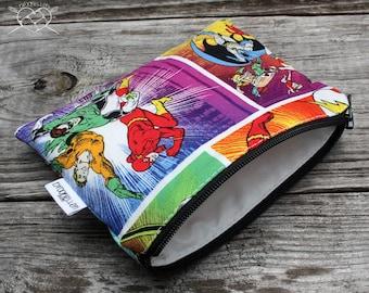 Snack Bag Makeup Bag Dog Treats Justice League Batman Wonder Woman Flash Made To Order