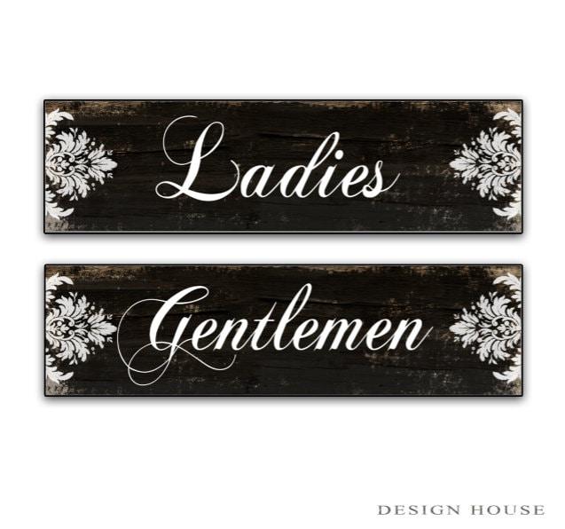 Restroom Signs Ladies Gentlemen Signs Bathroom Signs Restroom