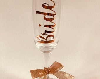 Personalised Champagne flute / Wine Glass