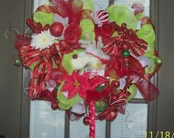 Reindeer Christmas wreath( sale was 59 now 45)