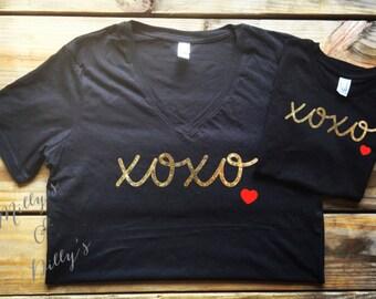 Valentines Day shirt, girls valentines shirt, Kids valentines, Valentines day shirt, Baby Valentines day shirt,Xoxo shir mommy and Me Shirts