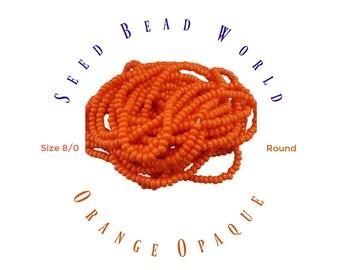 15% Off Orange Seed Bead Size 8 Seed Beads
