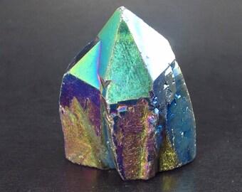 "Titanium Aura Quartz Crystal From Brazil - 1.4"""