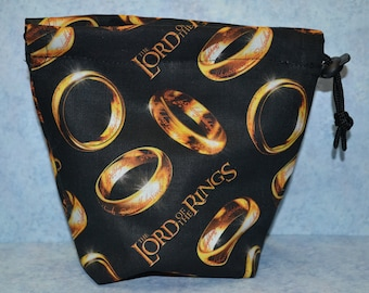 Lord of the Rings One Ring Drawstring Cloth Dice Bag for RPG/Games Workshop/Armada/Destiny
