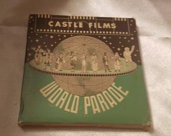 Vintage Castle Films World Parade Ireland Complete Edition 8 MM Millimeter Film in Original Box Irish Celtic World Cultures News Reel 8MM