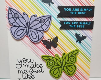 Handmade All Occasion Card, Butterfly's