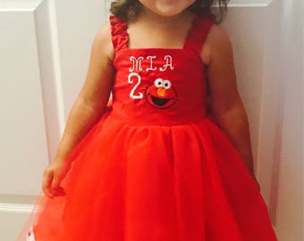 Personalize Elmo Themed Party Dress package.