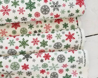 Christmas Delivery - Snowflakes(Cream Background)- Carta Bella - Penny Rose fabrics - Riley Blake Designs - Holiday Fabric -Christmas Fabric